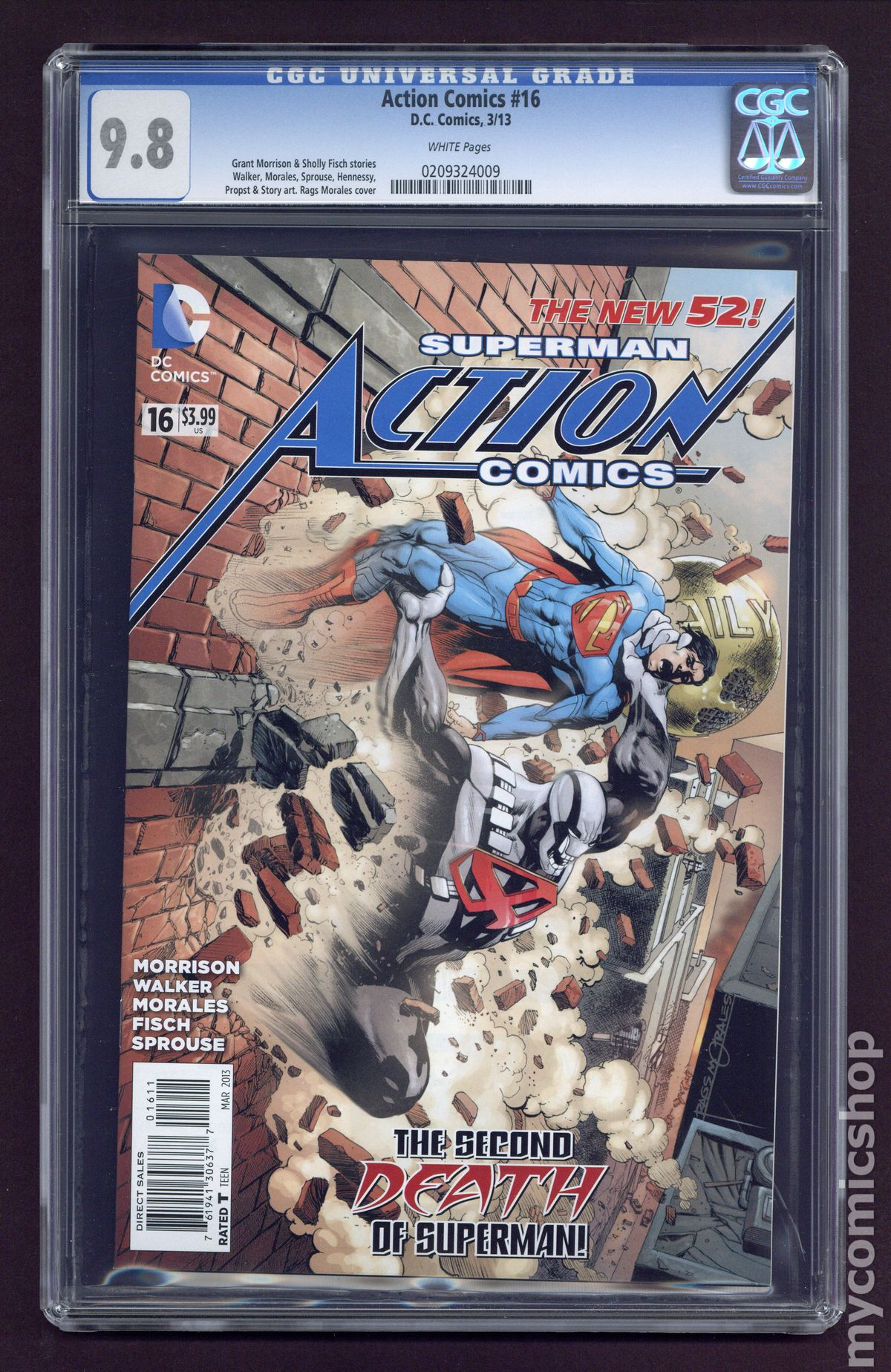 action comics (2011 2nd series) #16a cgc 9.8 (0209324009)