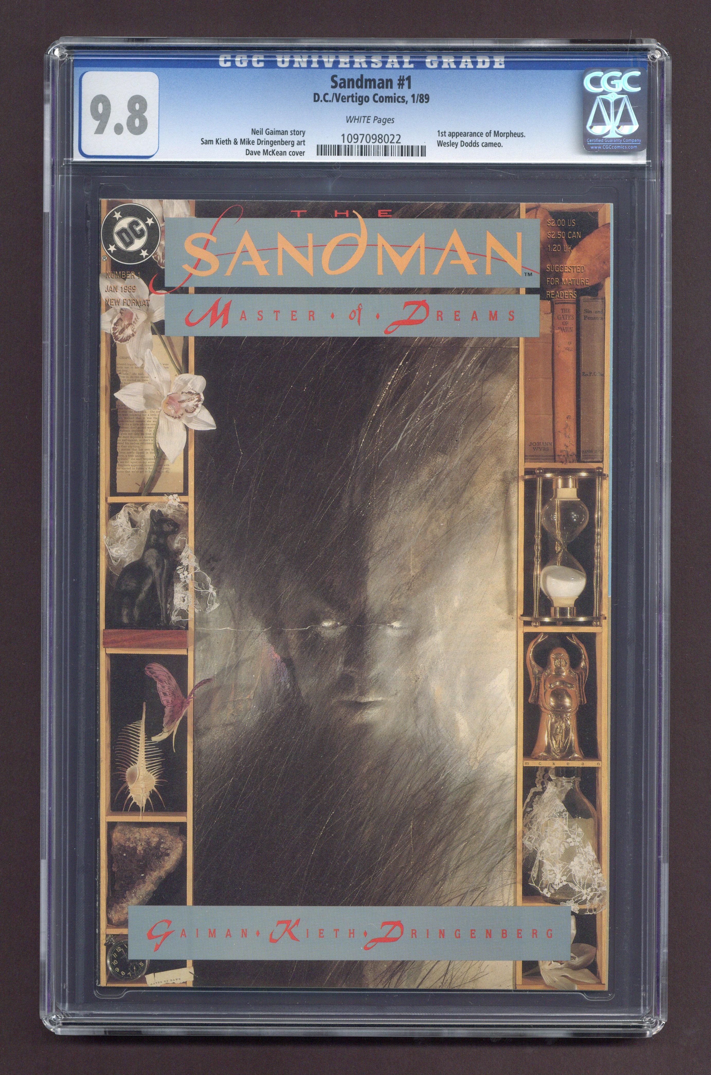 Sandman #1 CGC 9.8 DC/Vertigo Neil Gaimen