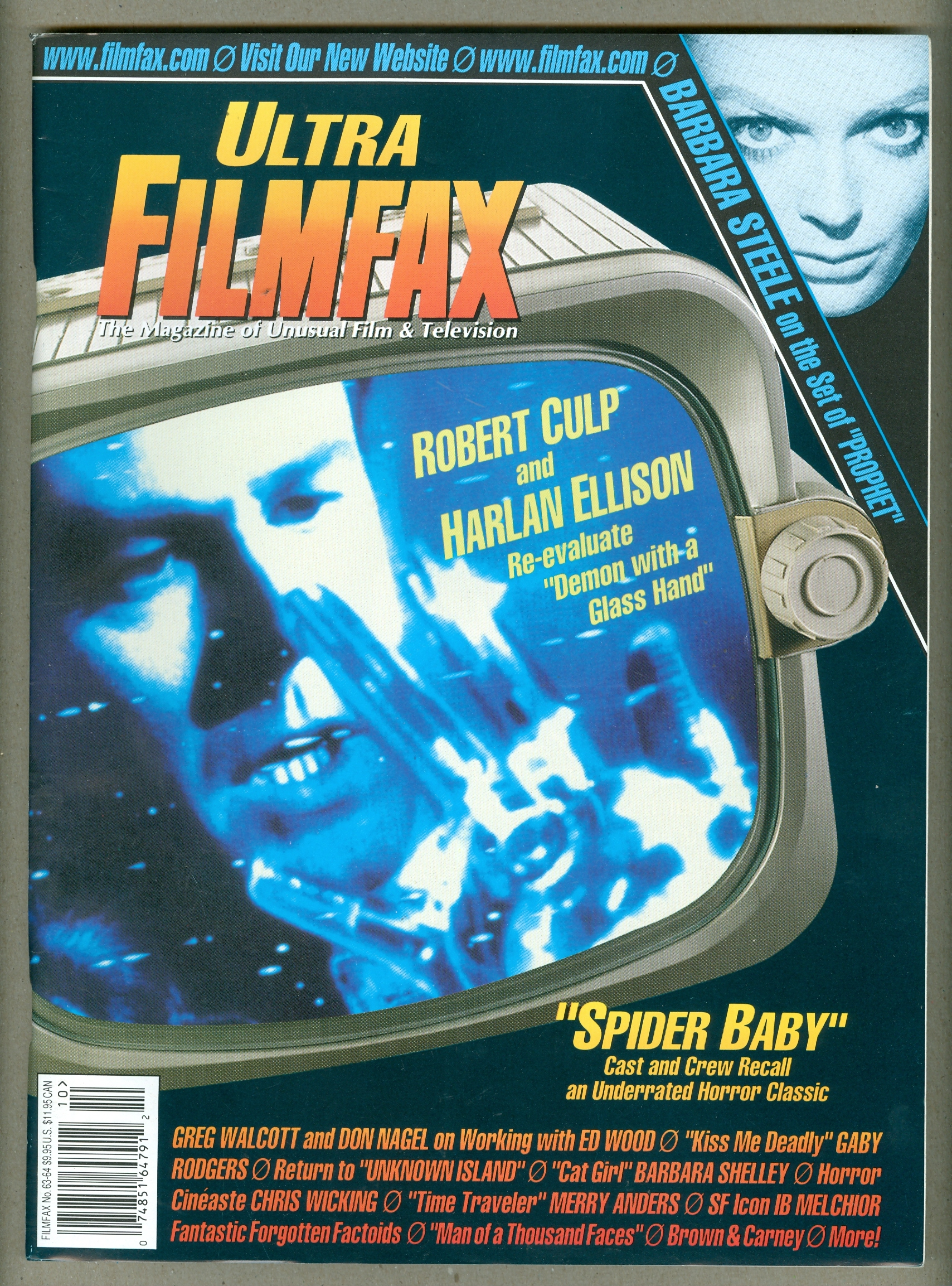 Filmfax Ultra 63 64 Outer Limits Barbara Steele Spider Baby Cat Girl Ed Wood
