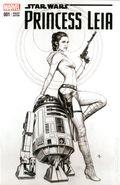 Star Wars Princess Leia (2015 Marvel) 1EMERALDB&W