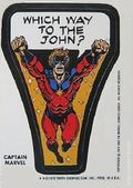 Topps Marvel Comic Book Heroes Sticker Trading Cards (1975) CAPMARVEL-B