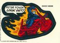 Topps Marvel Comic Book Heroes Sticker Trading Cards (1975) GHOSTRIDER