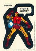 Topps Marvel Comic Book Heroes Sticker Trading Cards (1975) IRONMAN