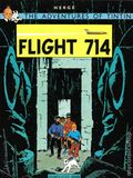 Adventures of Tintin Flight 714 GN (1979 Little Brown and Company) 1-REP