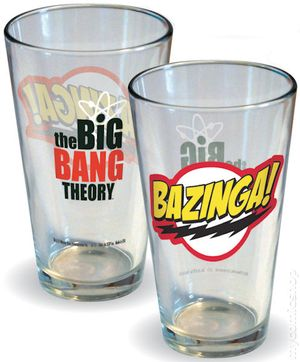 Big Bang Theory Bazinga Pint Glass (2012) BBANG