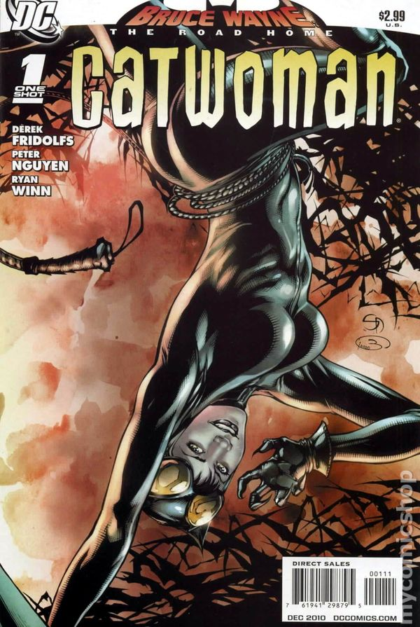 Comic Book Cover Art Sale : Bruce wayne the road home catwoman dc comic books