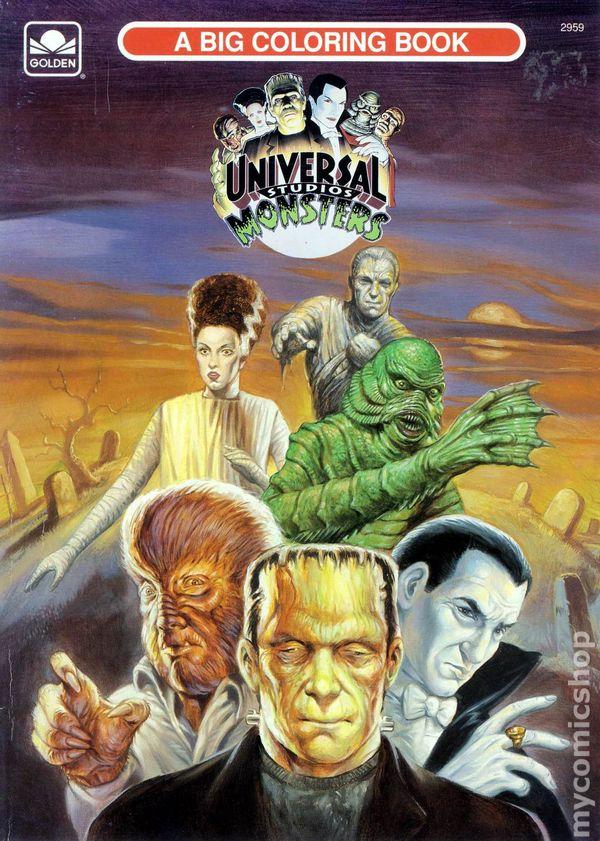 universal studios monsters a big coloring book sc 1991