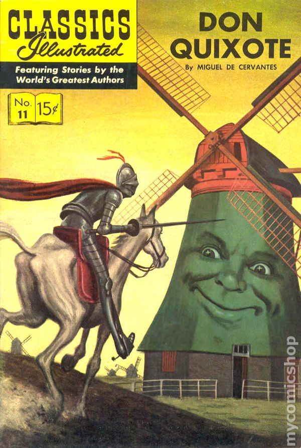 Illustrated Book Cover Number ~ Classics illustrated don quixote comic books