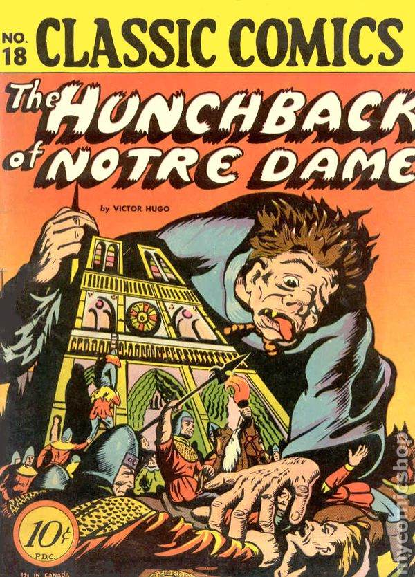 Classics illustrated 018 hunchback of notre dame 1944 for Classic house books
