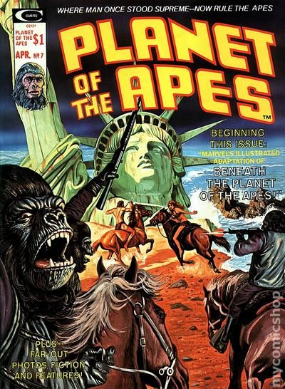 planet of the apes  1974 marvel magazine  comic books