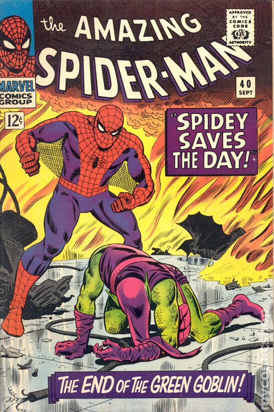 Amazing Spider-Man comic books issue 40 1966