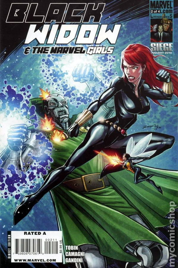 Black Widow and Marvel Girls (2009) comic books