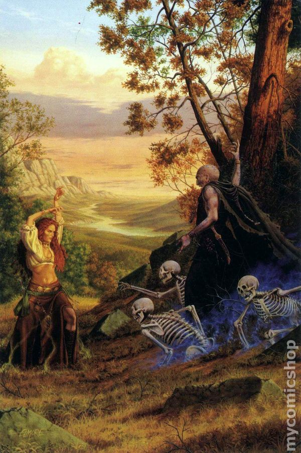 larry elmore fantasy postcard magic users  2001  comic books