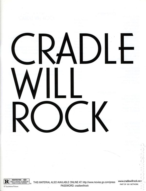 Cradle Will Rock Promotional Media Kit 1999 Kit 1999 Nm