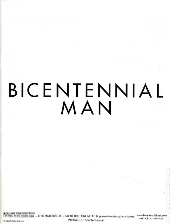 Bicentennial man promotional media book 1999 kit 1999 nm for Touchstone promotional products