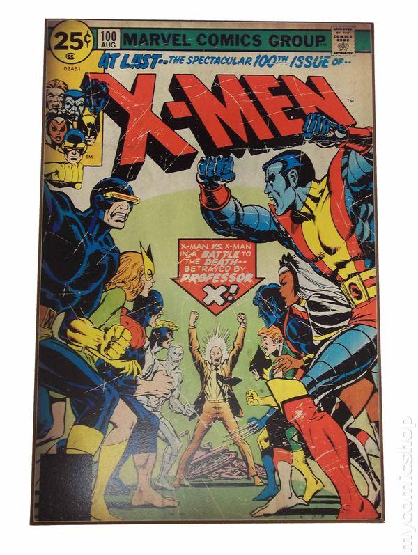 Comic Books In Wood Wall Artwork