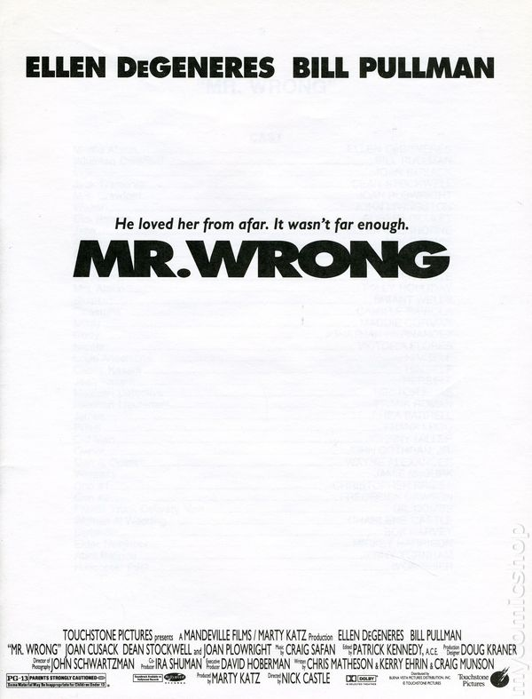 Mr wrong promotional media book 1996 comic books for Touchstone promotional products