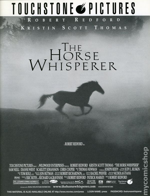 Horse whisperer promotional media book 1998 comic books for Touchstone promotional products