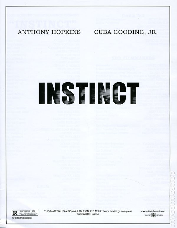 Instinct Promotional Media Book 1999 Kit 01 Fn