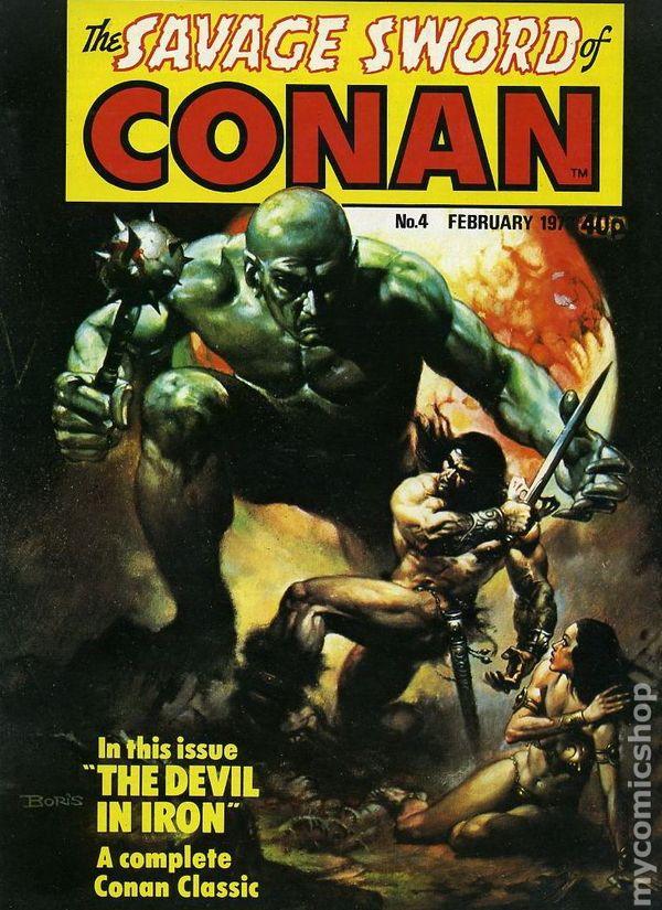 savage sword of conan  1977 magazine  marvel uk comic books