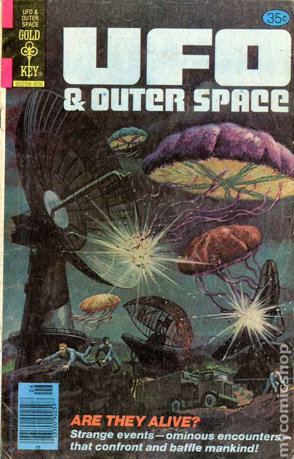 UFO and Outer Space (1978 Gold Key) comic books