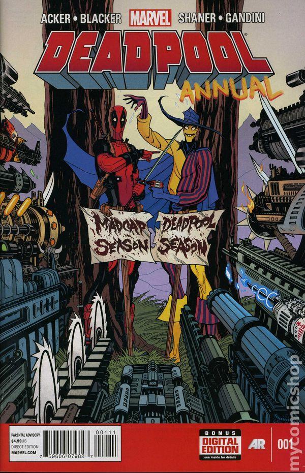 Deadpool 2012 3rd series annual comic books for Deadpool show