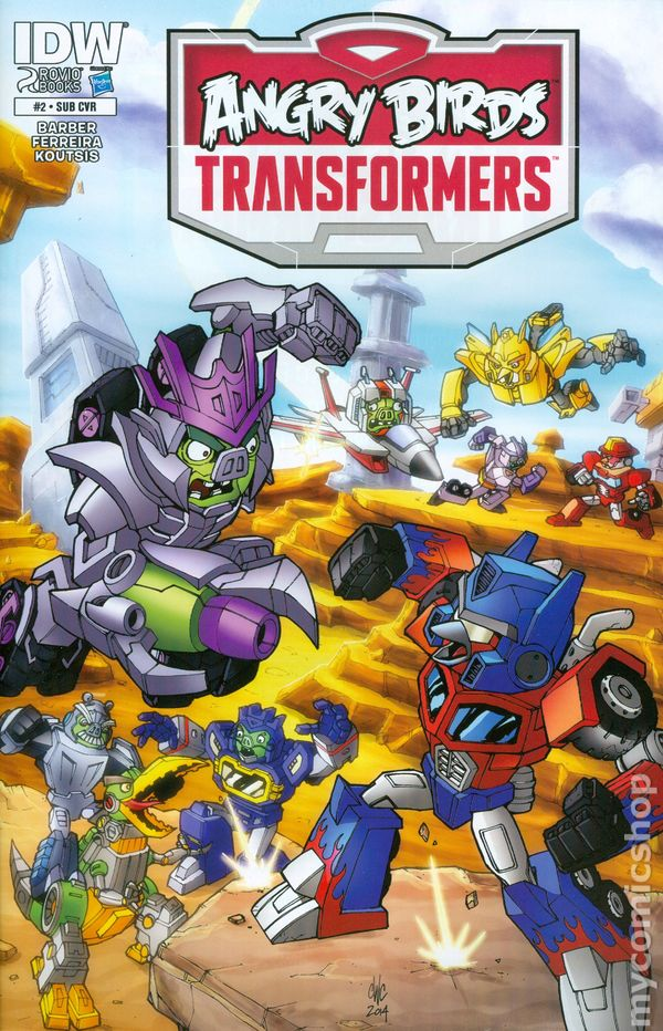 Angry Birds Transformers 2014 IDW ic books
