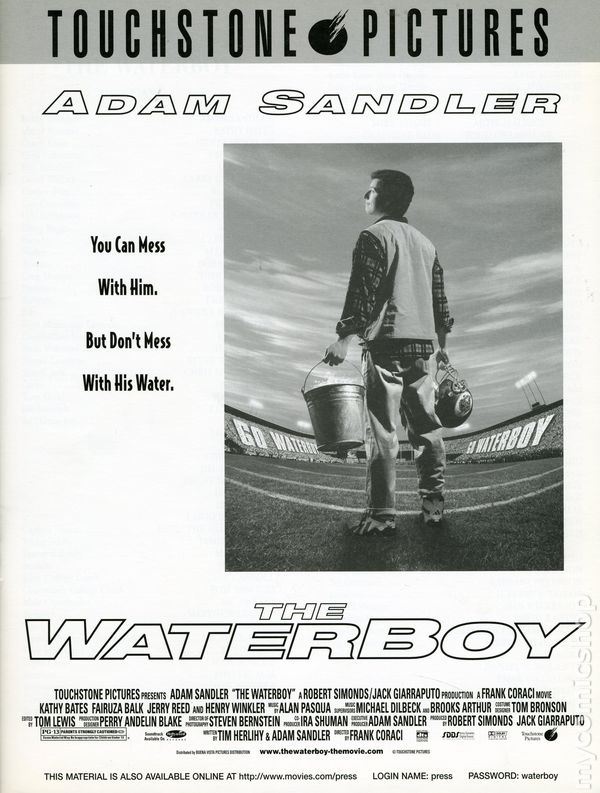 Waterboy media press kit 1998 touchstone kit 1998 nm ebay for Touchstone promotional products