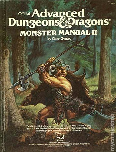 Advanced dungeons and dragons monster manual ii hc 1983 for Monster advanced search