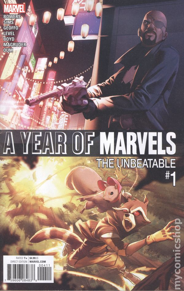 Year of Marvels Unbeatable #1 2016 NM Stock Image