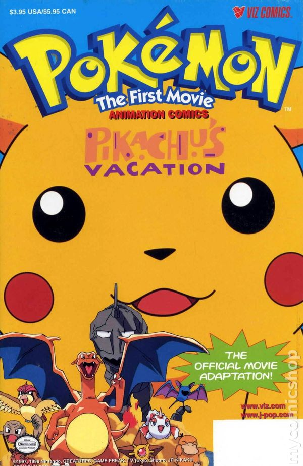 pokemon the first movie pikachus vacation 1998 comic books