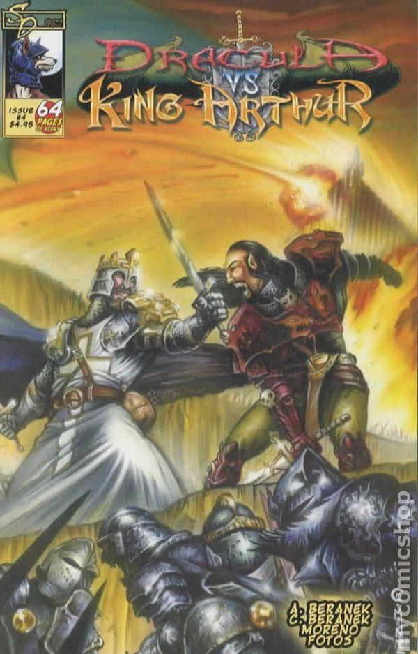 dracula vs  king arthur  2005  comic books