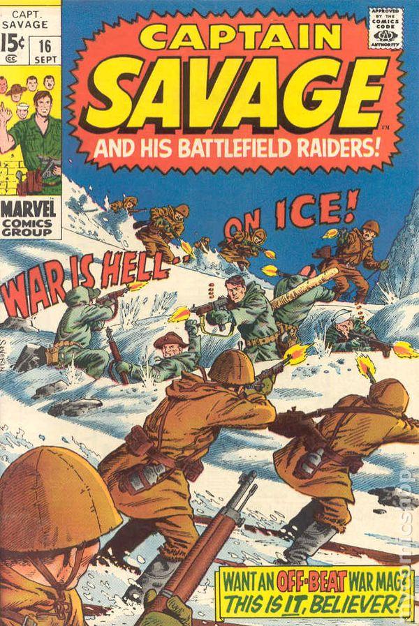 captain savage  1968  comic books