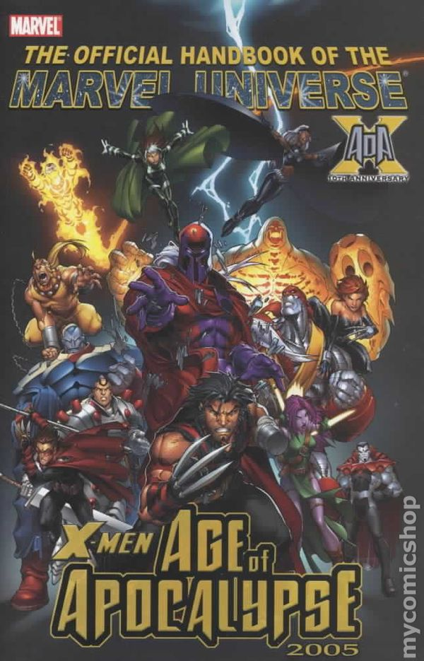 Official handbook marvel universe x men age of apocalypse comic books