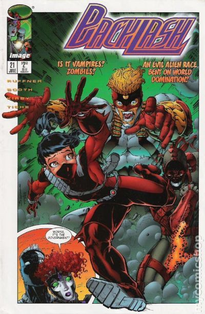 Backlash 1994 Comic Books