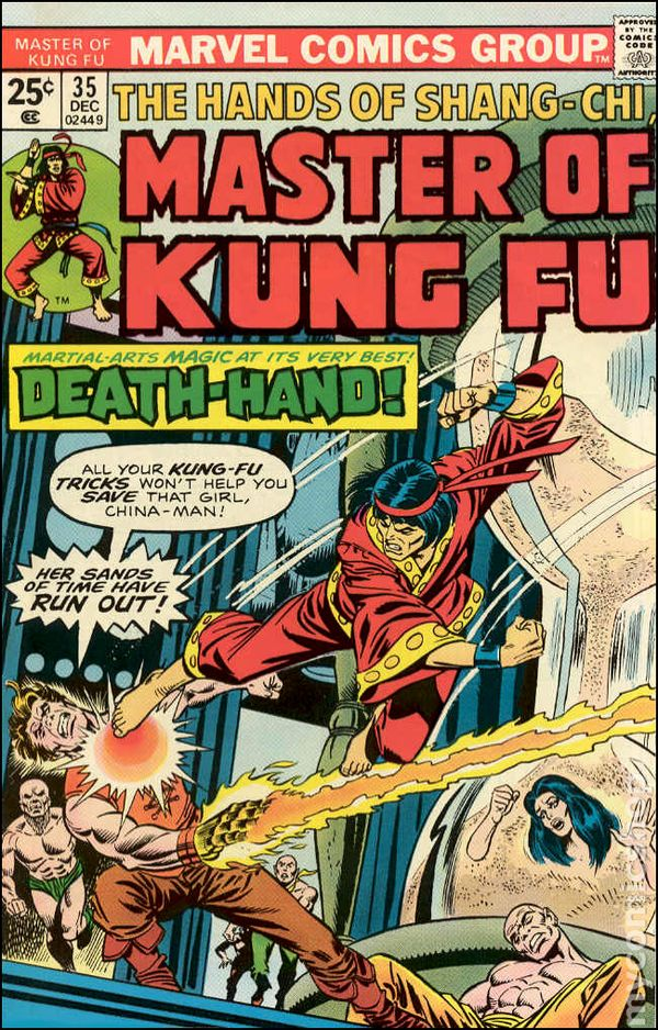 master of kung fu  1974  comic books