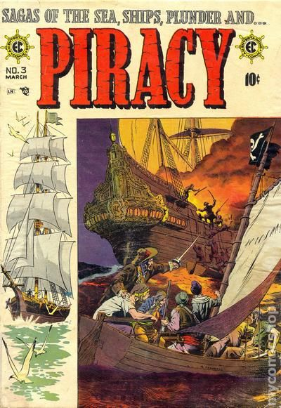 piracy  1954 e c  comics  comic books