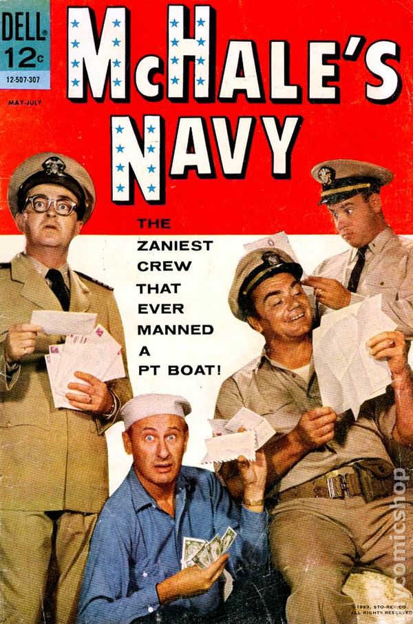 Book Cover Series Tv : Mchale s navy comic books