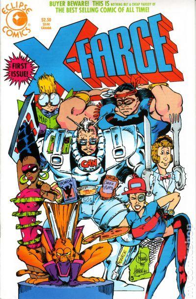 X farce 1992 comic books for Farcical books