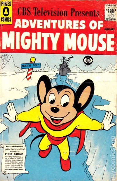 Adventures Of Mighty Mouse 1955 Pines Dell Gold Key
