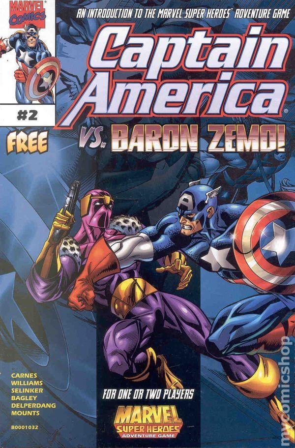 captain america vs baron zemo 1998 comic books