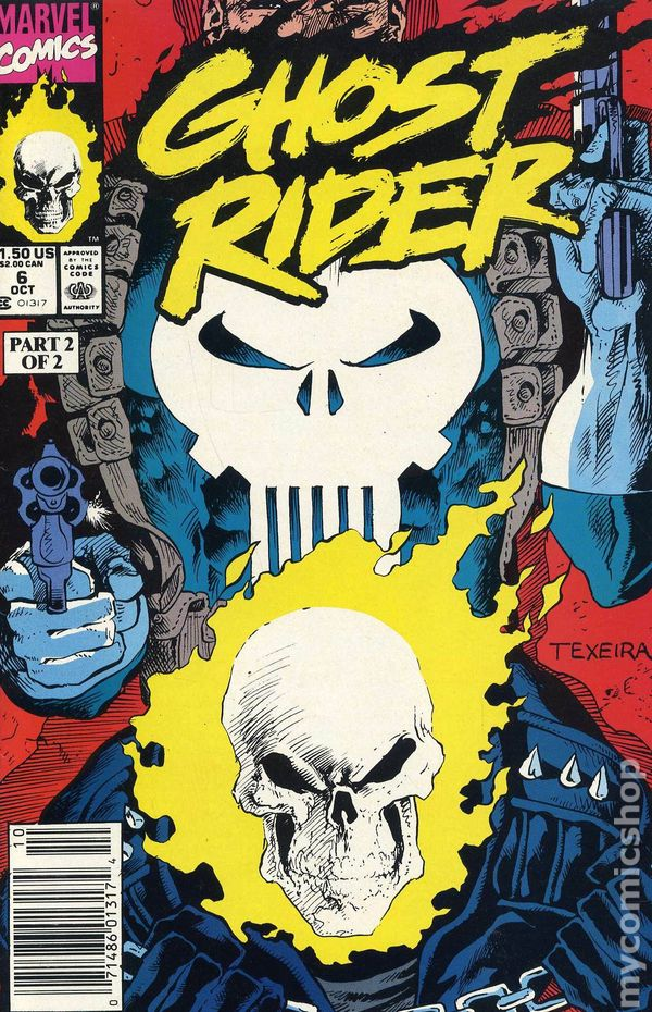 Book Cover Art Database : Ghost rider nd series comic books