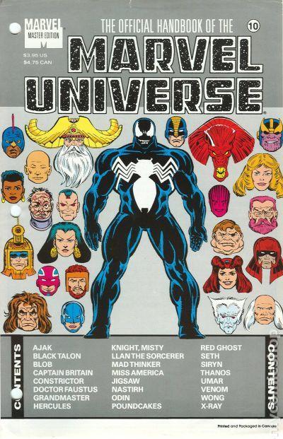 official handbook marvel universe master edition comic books