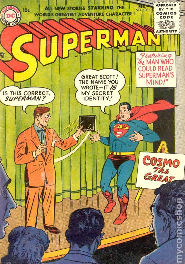 Superman 1939 1st series comic books 1950 1959 for Bureau 39 superman