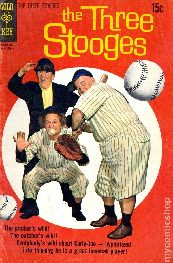three stooges  1960 dell  gold key  comic books