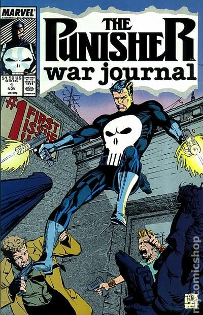 Book Cover Art Zone ~ Punisher war journal st series comic books