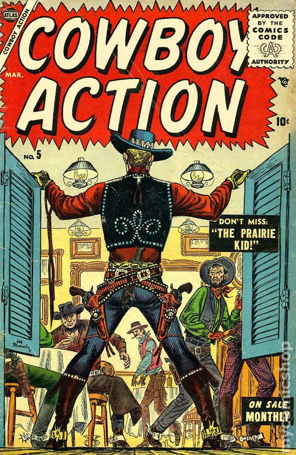cowboy action  1955  comic books
