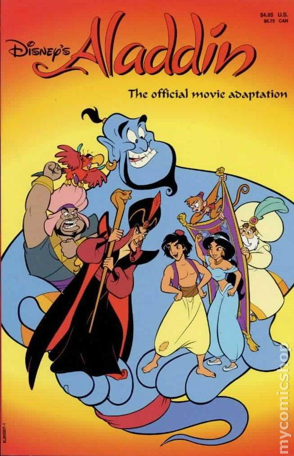 Aladdin Official Movie Adaptation 1992 Comic Books