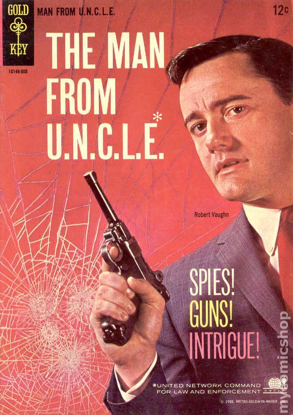 man from u n c l e   1965 gold key  comic books