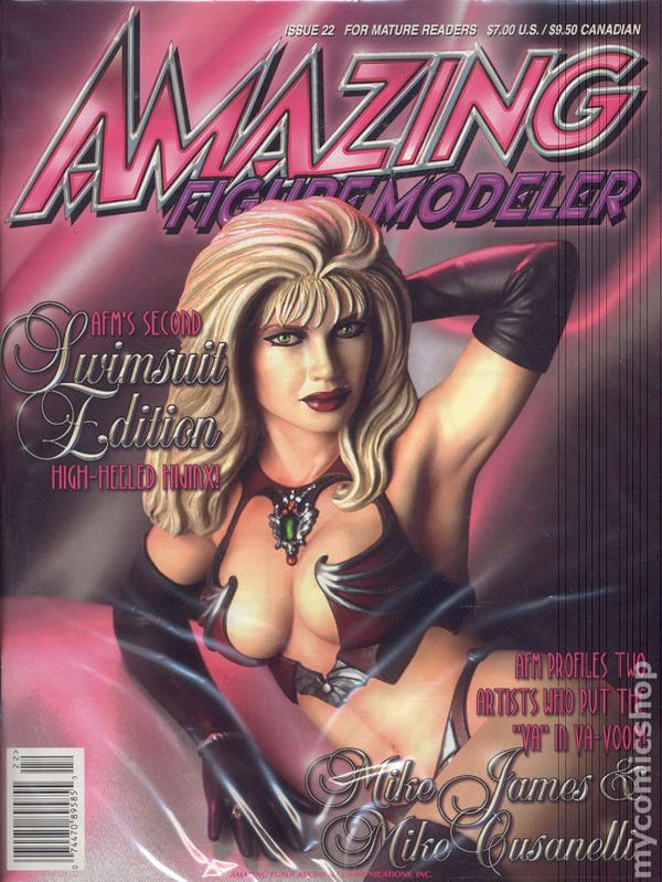 AMAZING FIGURE MODELER Magazine #9 and 16 VG- 3.5 Frazetta Vallejo Wrightson Coop